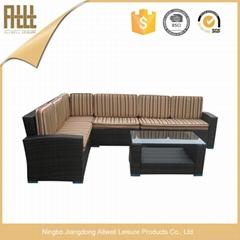 All weather garden rattan corner sofa