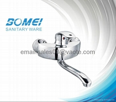 Brass Body Ceramic Cartridge Single Lever Kitchen Faucet (made in Luqiao)
