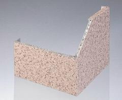 氟碳预辊涂仿石纹铝蜂窝板