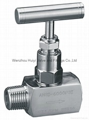 male and female thread needle valve