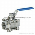 3-pc female thread ball valve