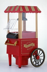 New retro cart popcorn machine
