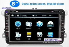Auto Radio 8 inch Car Stereo Sat Nav GPS Navigation With 3G WiFi