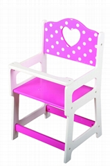 doll high chair baby toy