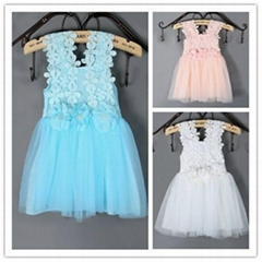 2015 New flower girl dress for girl party dresses wholesale girl dress (ulik-J05