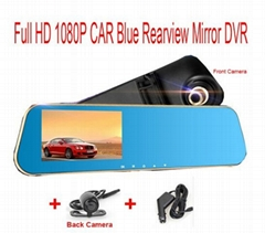 Mirror Auto DVR Parking Recorder Video Camcorder Full HD 1080p