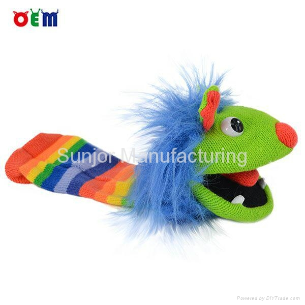 Knitted Hand Puppet factory hand knitted finger puppets for sale 2