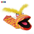 Hot Selling Knitted Hand Puppets for adult stripy finger hand puppet for sale 3