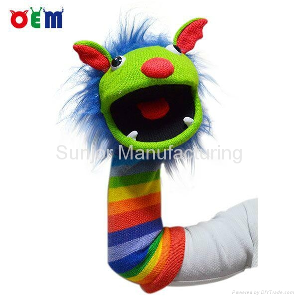 Hot Selling Knitted Hand Puppets for adult stripy finger hand puppet for sale 1
