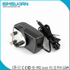 UK plug Wall-mount 15W AC/DC power adapter for LED strip