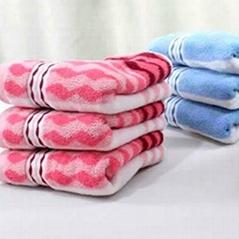 方块格毛巾