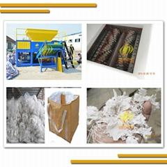 Industrial SCDF600 double shaft waste plastic film jumbo bag sacks  shredder