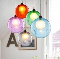Nordic loft creative colorful bottle hanging lighting