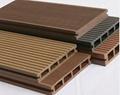 Wood PVC PE Plastic WPC Decking Profiles
