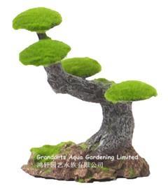 Moss tree stump, bosai tree, tree stump, aquarium ornament tree 1