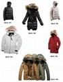 padded down fur jacket coat