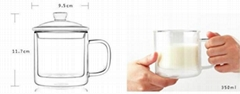 Nice High Quality Heat Resistant Borosilicate Glass Teapot with infuser Tea Pot