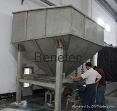 salt storage bay material silo quantity bunker