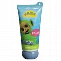 offset printing facial cleaner cream with screw top cap unique plastic tube tail 1