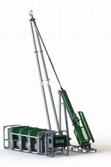 Small F600 Man - Portable Core Drill Rig Remote Mountain Areas 4m X 4m Depth Rea
