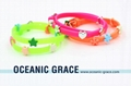 Silicone Belt Bracelet with Metal Charms