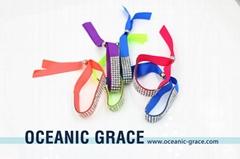 Ribbon Bracelet with Rhinestone Sheets Kids Bracelets BFF Bracelets