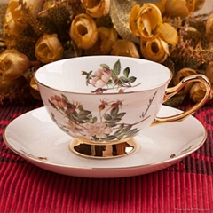 tea cup and saucer sets, ceramic tea set