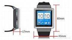 安卓4.4智能手表 支持3G网络制式 插卡通话