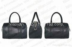 Unisex Handmade PU Classic Briefcase Laptop Messenger handbag Black *** Ililian