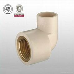 HJ brand CPVC ASTM D2846 pipe fitting brass 90 deg elbow