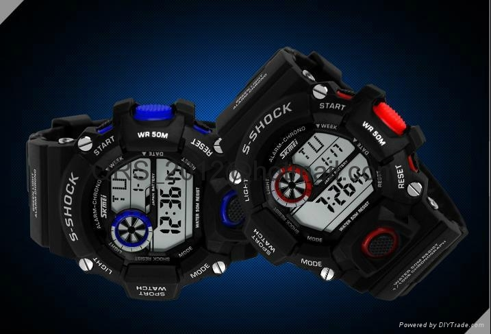 Muti Fuction 50M Water Restist Infantry Military Digital Men Sport Watch 1