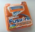 Fusion Power Razor Blade Cartridges.  8 packs