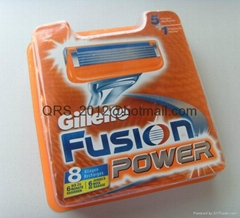 Fusion Power Razor Blade Cartridges.  8 packs