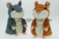 Mimicry Pet Speak Talking Sound Record Electronic Hamster Plush Toy For Kid Gift 1