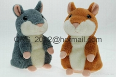 Mimicry Pet Speak Talking Sound Record Electronic Hamster Plush Toy For Kid Gift