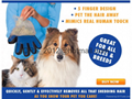 True Touch Deshedding Glove Brush for Dog and Cat