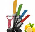 "Ceramic Knife Set Chef Kitchen Knives 3"" 4"" 5"" 6"" + Peeler + Holder"
