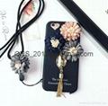 Flower pendant fringed iphone 7 case
