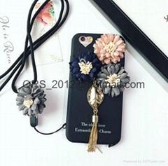 Flower pendant fringed iphone 7 case iphone6splus silicone case 6s soft  case