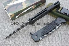 Tiger Print USA M9 Automatic Knife