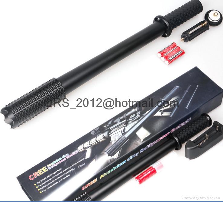 CREE aluminium alloy multipurpose Flashlight,stun gun