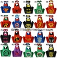 Dress Up Comics Cartoon Superhero Costume with Satin Cape and Matching Felt Mask