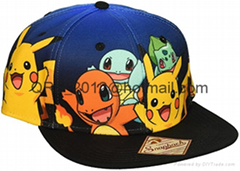 Pokemon Group Gradient Snapback Cap