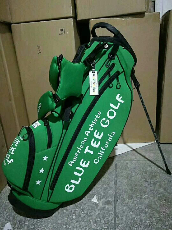 American Athlete Blue Tee Golf California  stang bag -Green