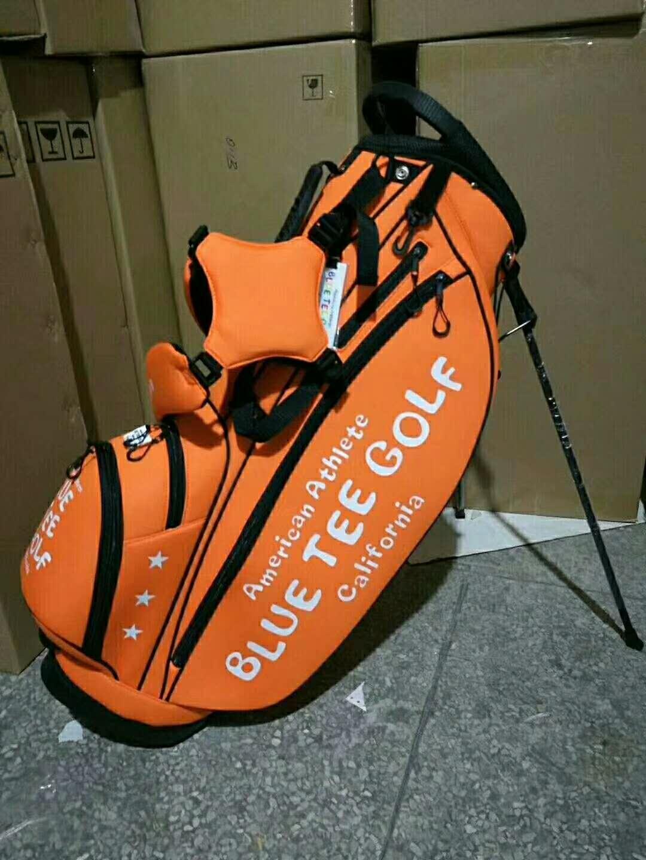 American Athlete Blue Tee Golf California  stang bag -Orange