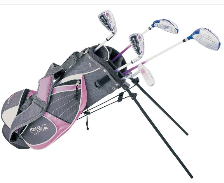 golf junior golf clubs & bag Youth kid carry bag # 8-10 years old (Pink)