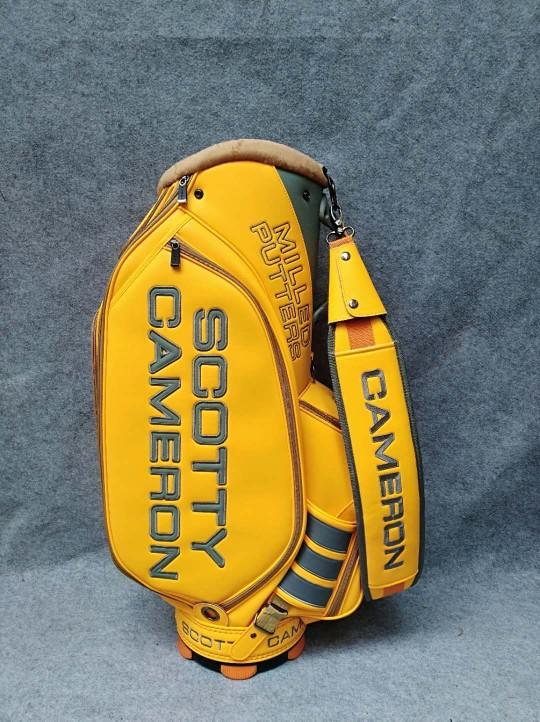 Scotty Cameron Yellow Staff Bag Circle T Studio Design With Head Covers