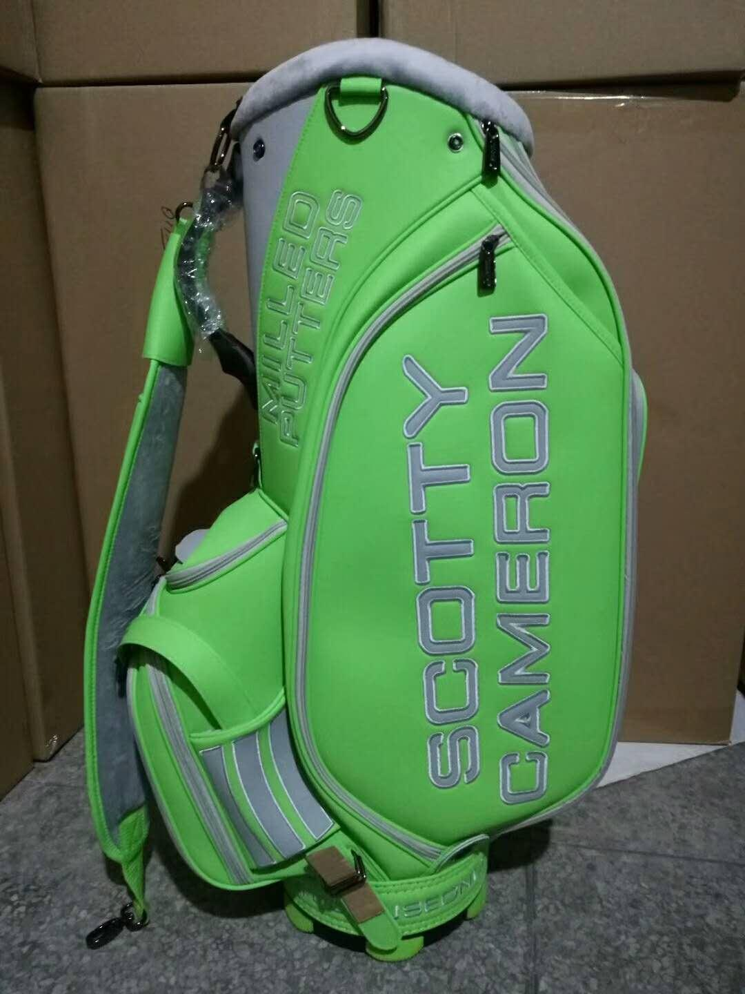 Scotty Cameron Green Staff Bag Circle T Studio Design With Head Covers New