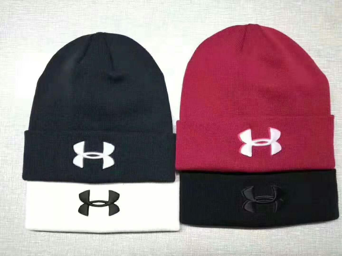 Under Armour UA Men's Knit Cuff Beanie Cap Hat Embroidery Graphite