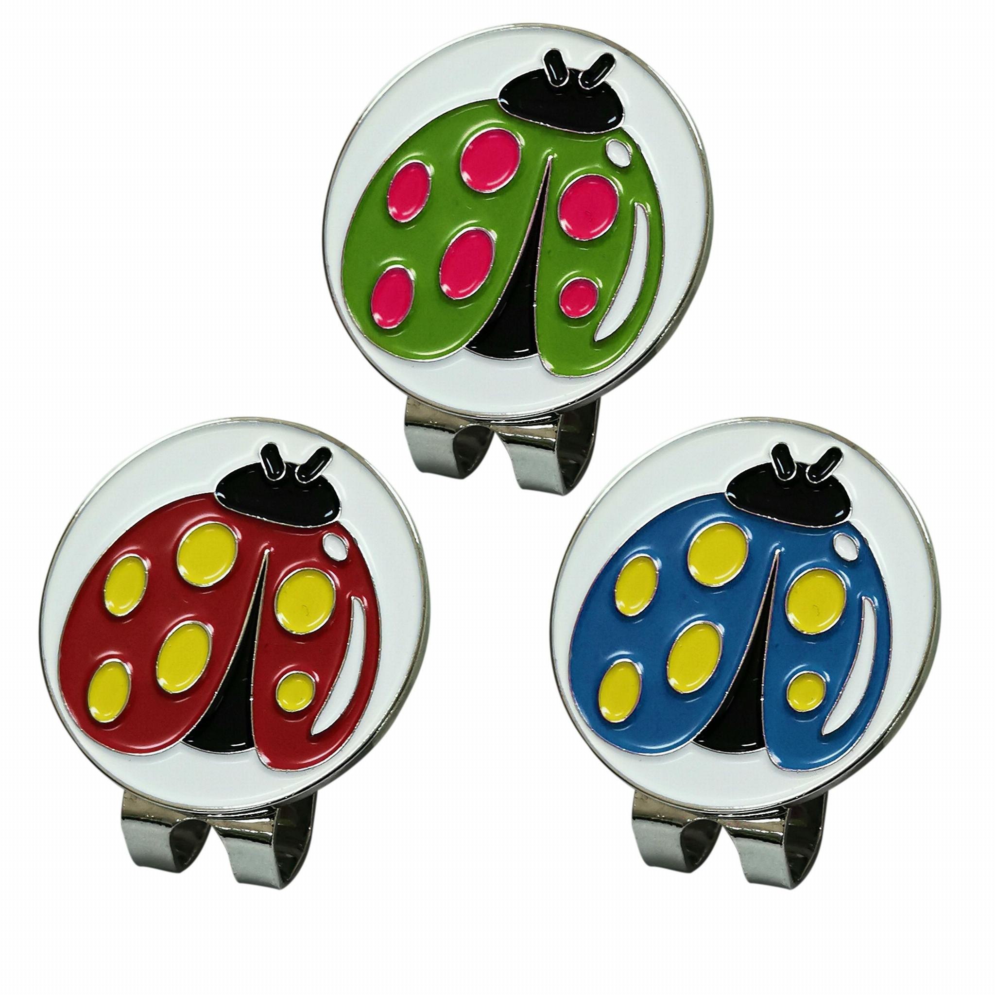 ladybug Magnetic Cap Clip Golfer Gift